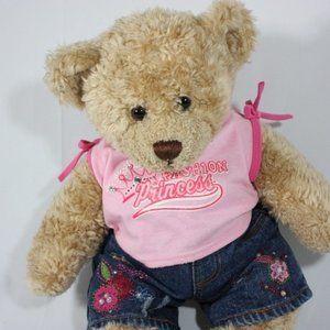Build A Bear Plush Fashion Princess Teddy Bear EUC